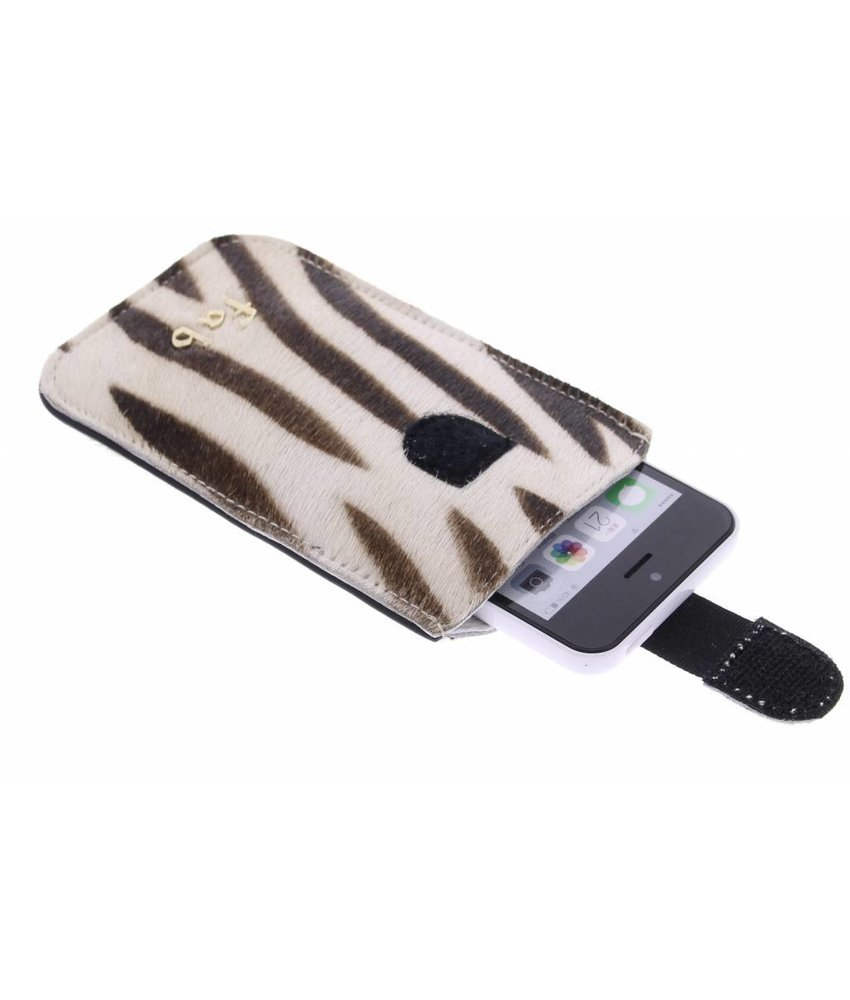 Fab. Zebra Cream Cover - Size L
