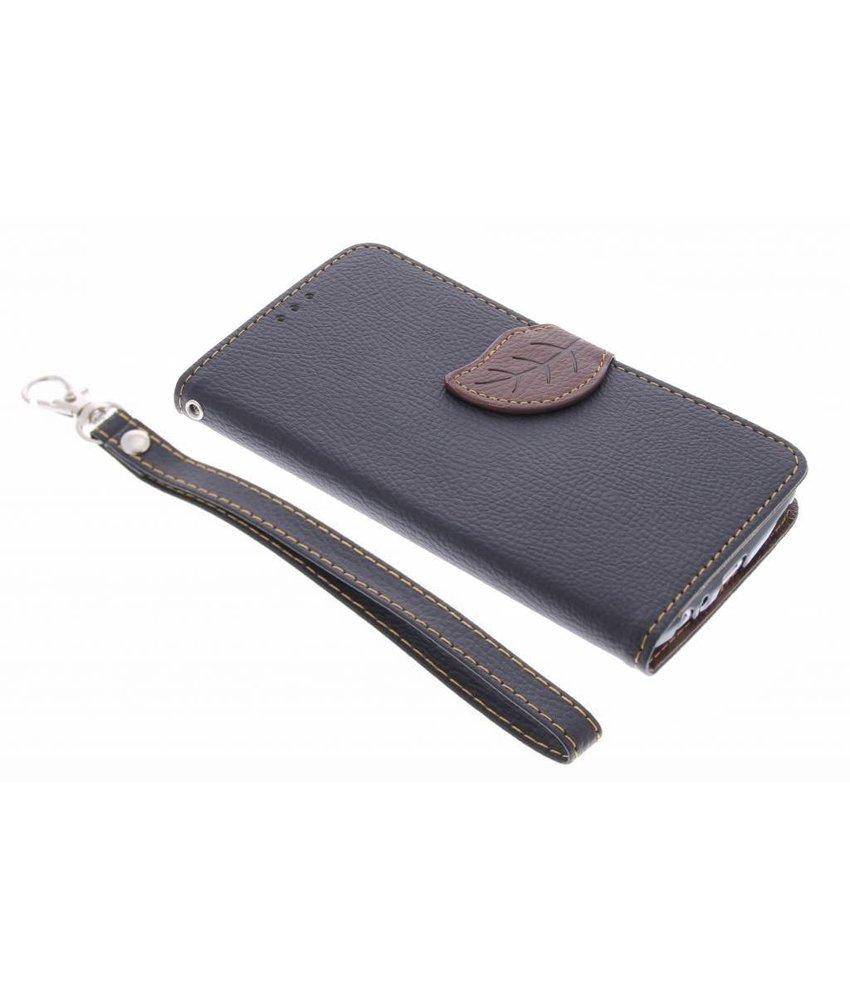 Zwart blad design TPU booktype hoes LG G3