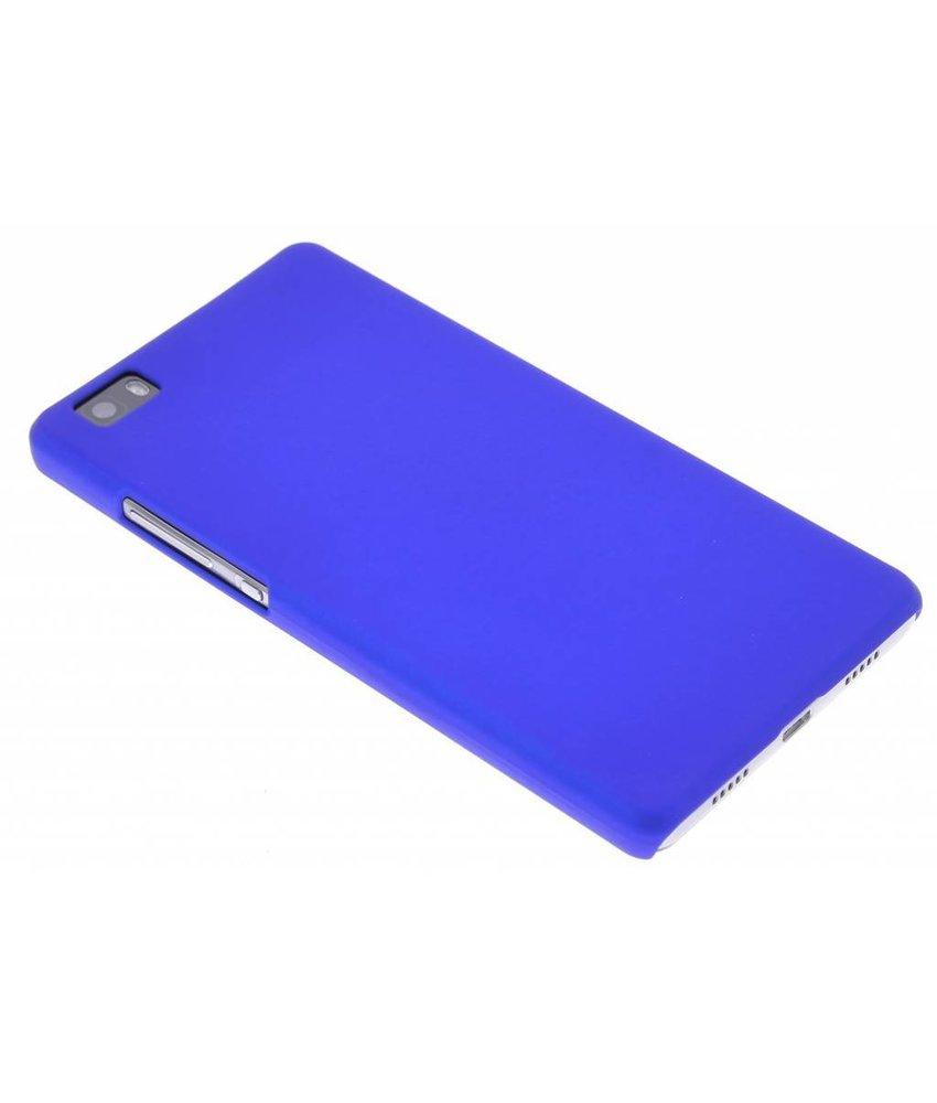 Blauw effen hardcase hoesje Huawei P8 Lite
