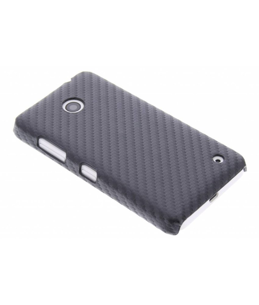 Zwart carbon look hardcase Nokia Lumia 630 / 635