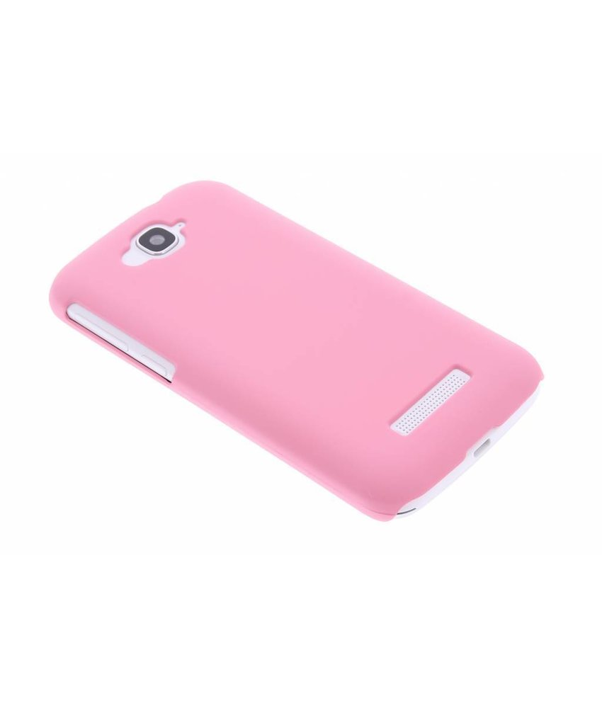 Roze effen hardcase hoesje Alcatel One Touch Pop C7