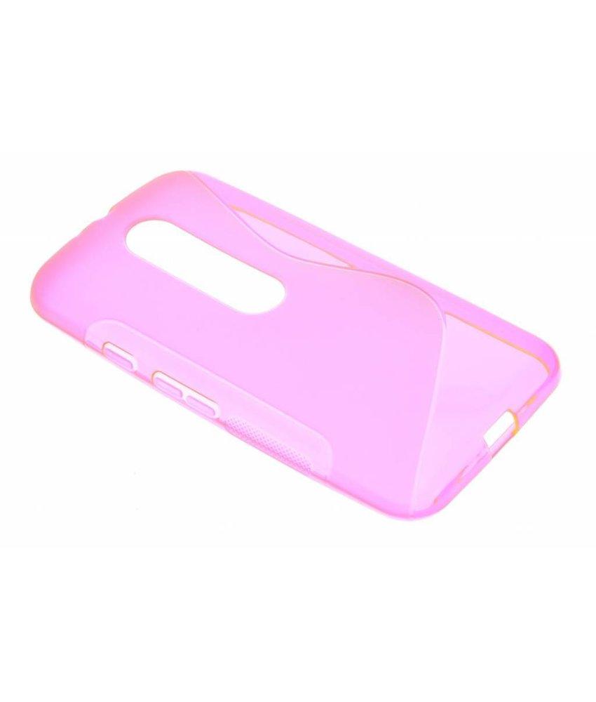 Roze S-line TPU hoesje Motorola Moto G 3rd Gen