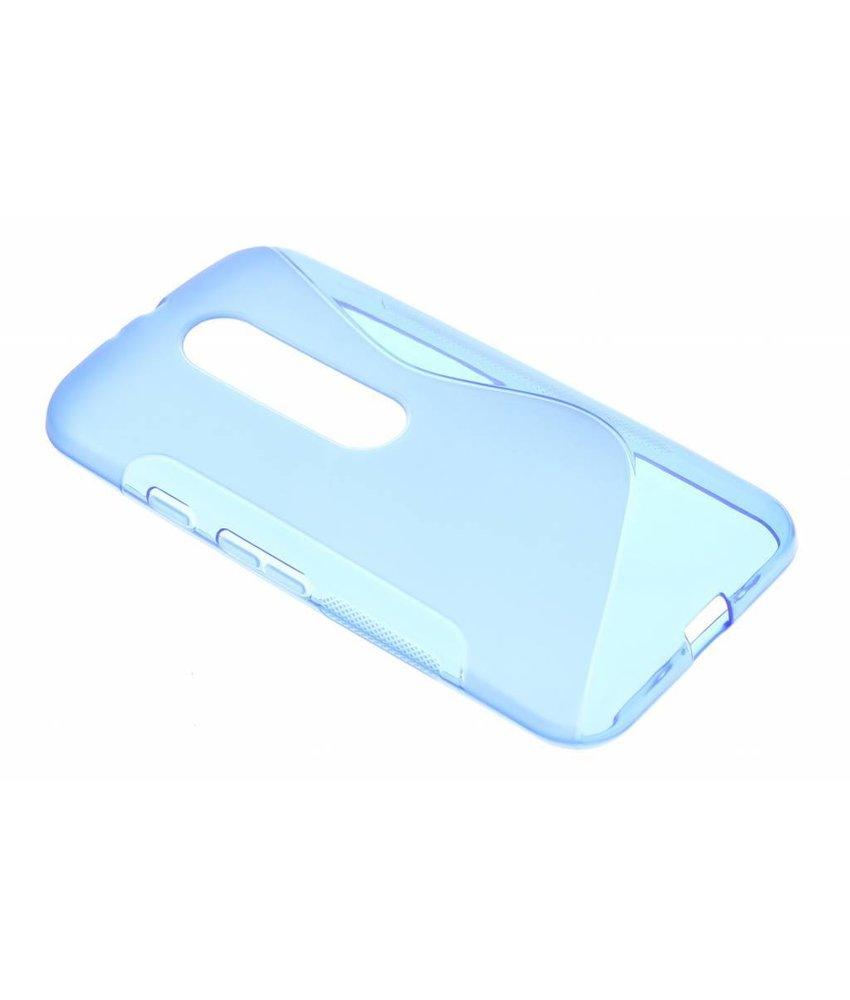 Blauw S-line TPU hoesje Motorola Moto G 3rd Gen