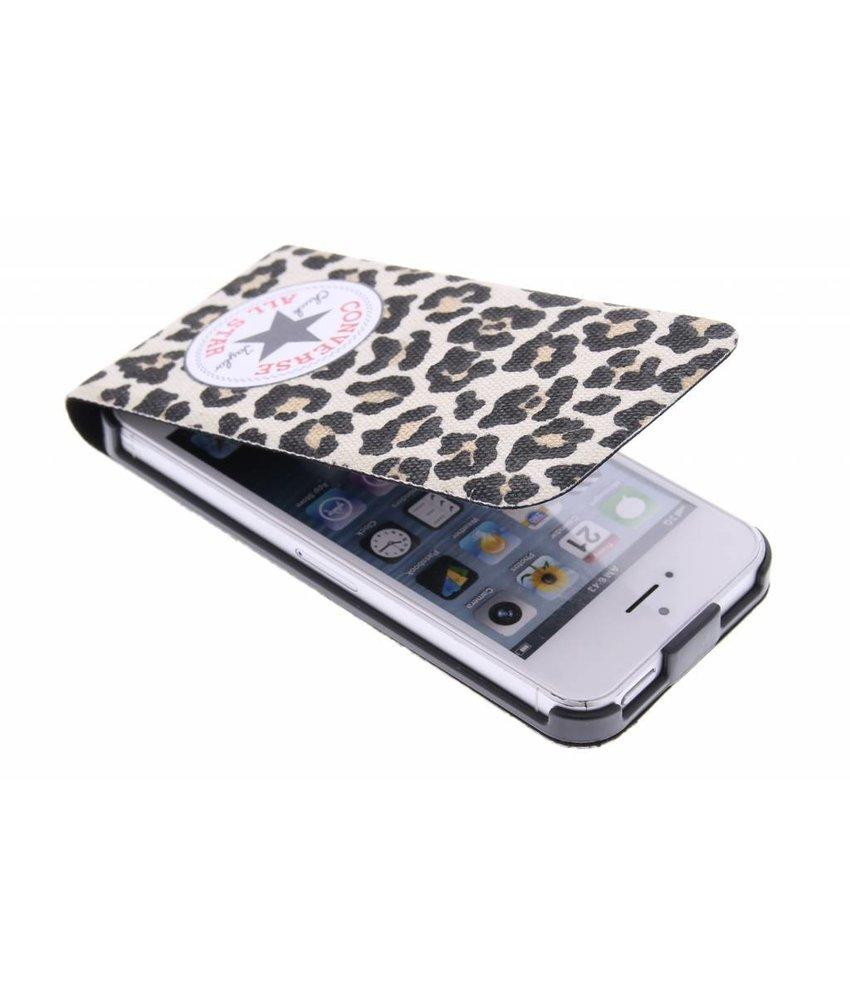 Converse Flip Case iPhone 5 / 5s / SE - Leopard