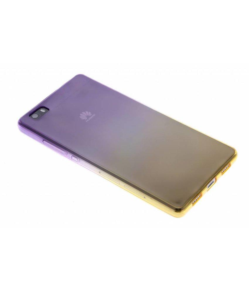 Tweekleurig TPU siliconen hoesje Huawei P8 Lite