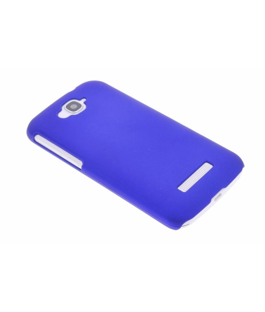 Blauw effen hardcase hoesje Alcatel One Touch Pop C7