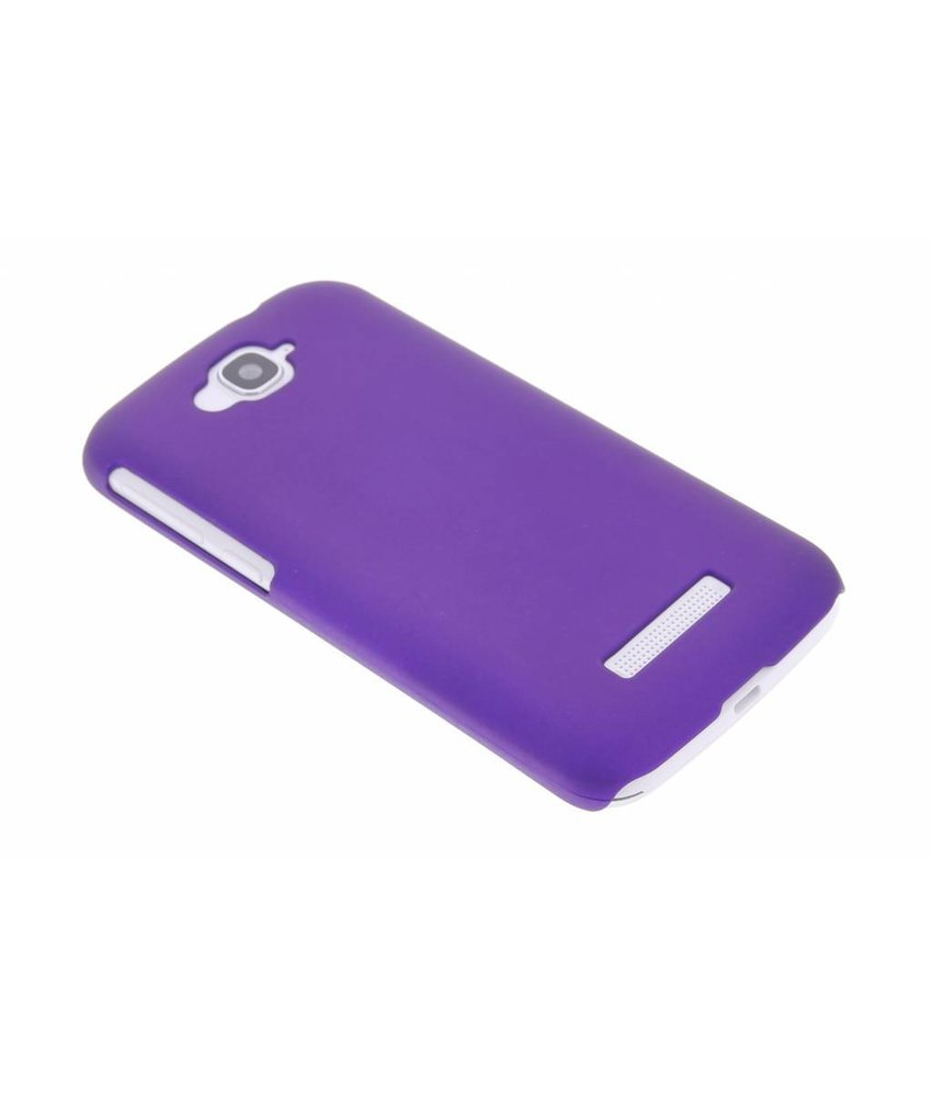 Paars effen hardcase hoesje Alcatel One Touch Pop C7