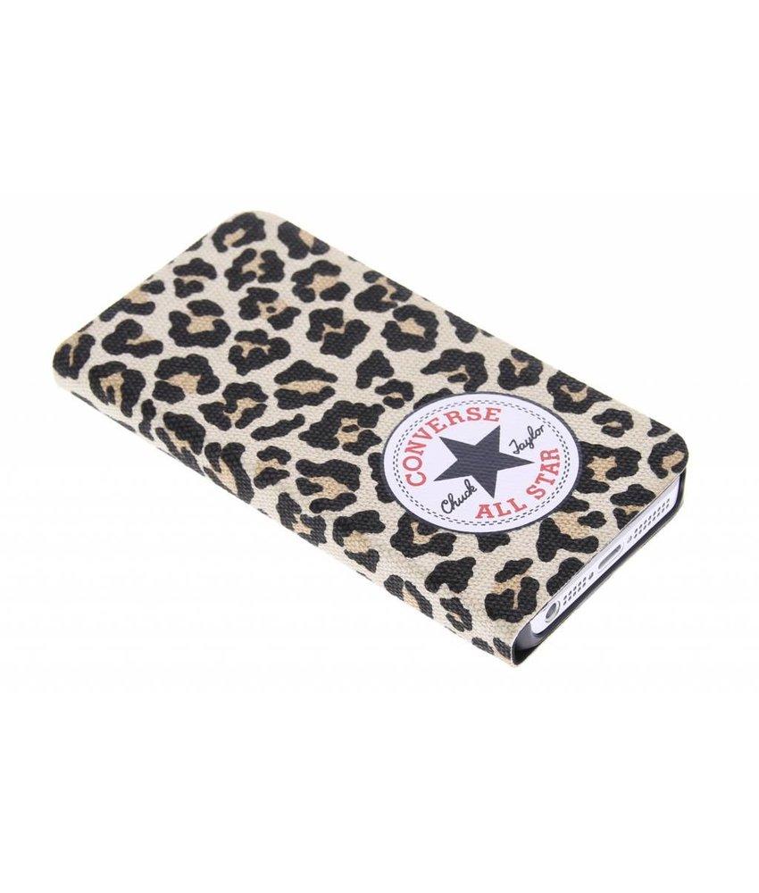 Converse Booklet Case iPhone 5 / 5s / SE - Leopard
