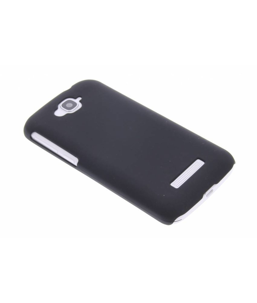 Zwart effen hardcase hoesje Alcatel One Touch Pop C7