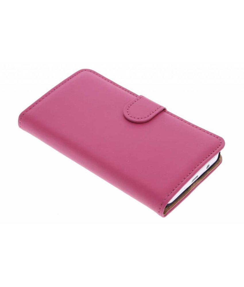 Selencia Luxe Book Case Samsung Galaxy A3 - Fuchsia