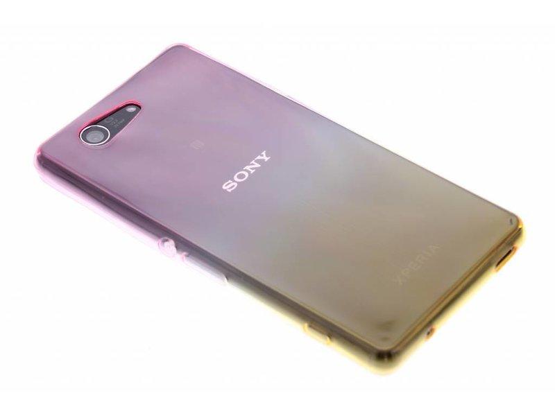 Bicolor Rose / Jaune Étui En Silicone Tpu Transparent Pour Sony Xperia Z3 Compact C1B3HgKI97