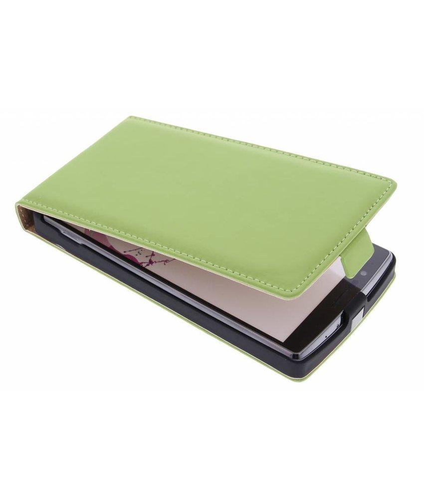 Selencia Luxe Flipcase LG G4 - Groen
