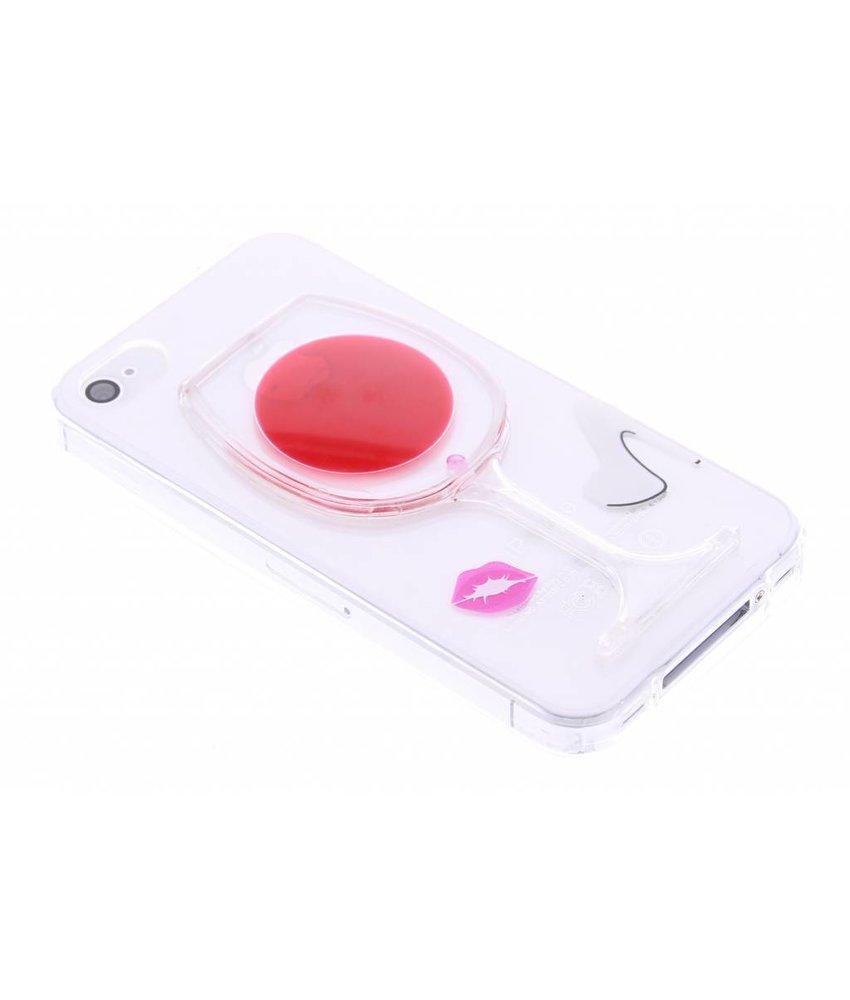 Transparant wijnglas TPU hoesje iPhone 4 / 4s