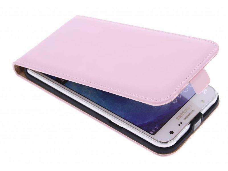 Couvercle Du Boîtier De Clapet De Luxe Pour Samsung Galaxy J7 - Poudre Rose GaCTGT