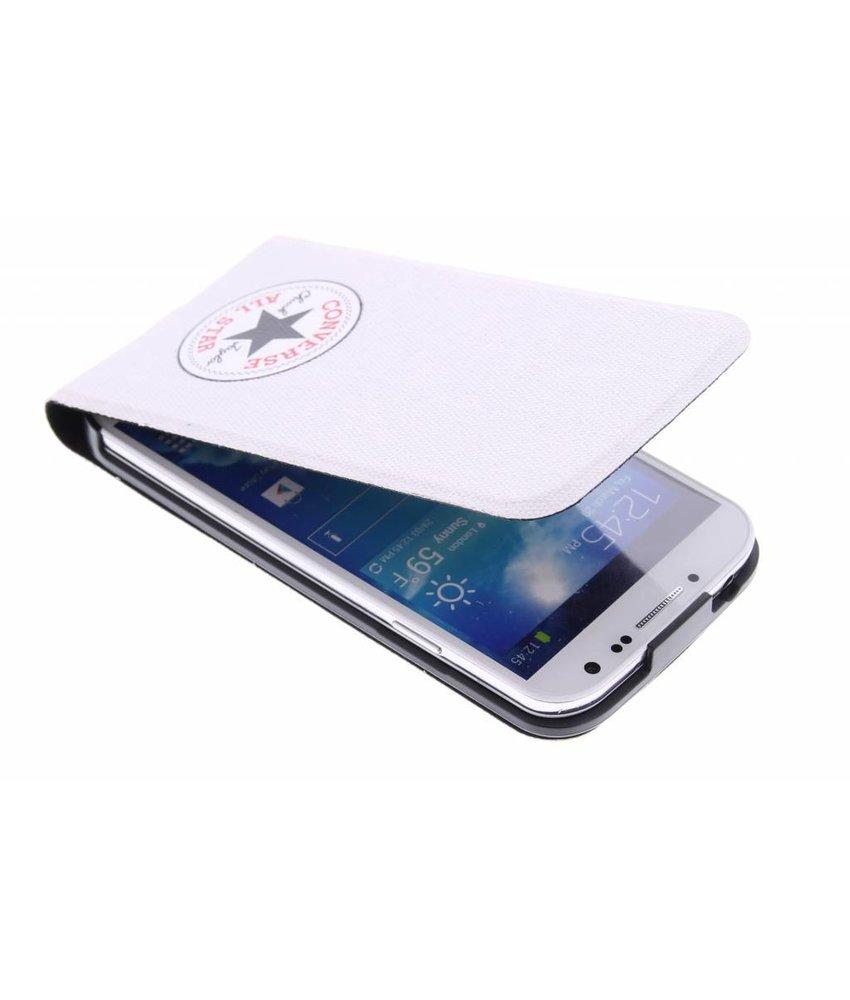 Converse Flip Case Samsung Galaxy S4 - wit