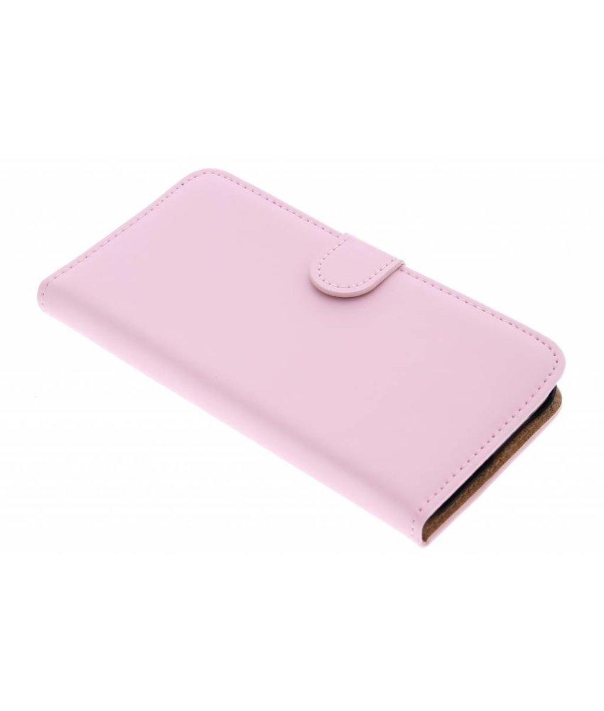 Selencia Luxe Book Case HTC One M9 - Poederroze