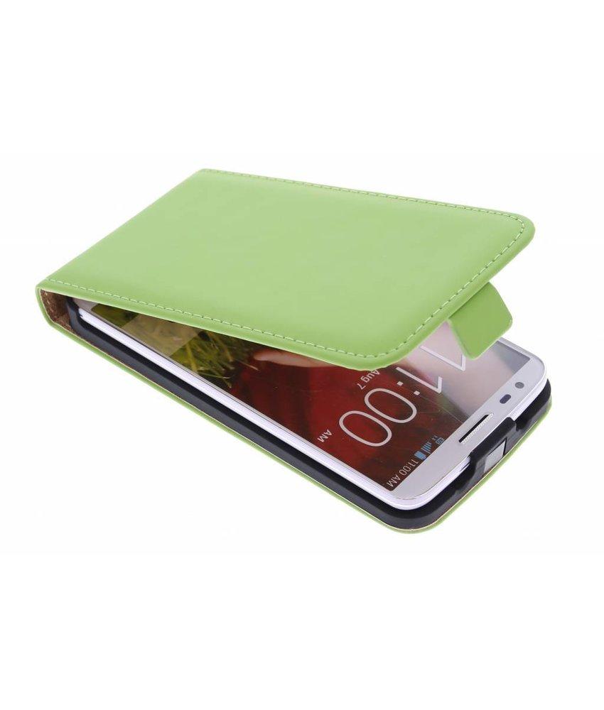 Selencia Luxe Flipcase LG G2 - Groen