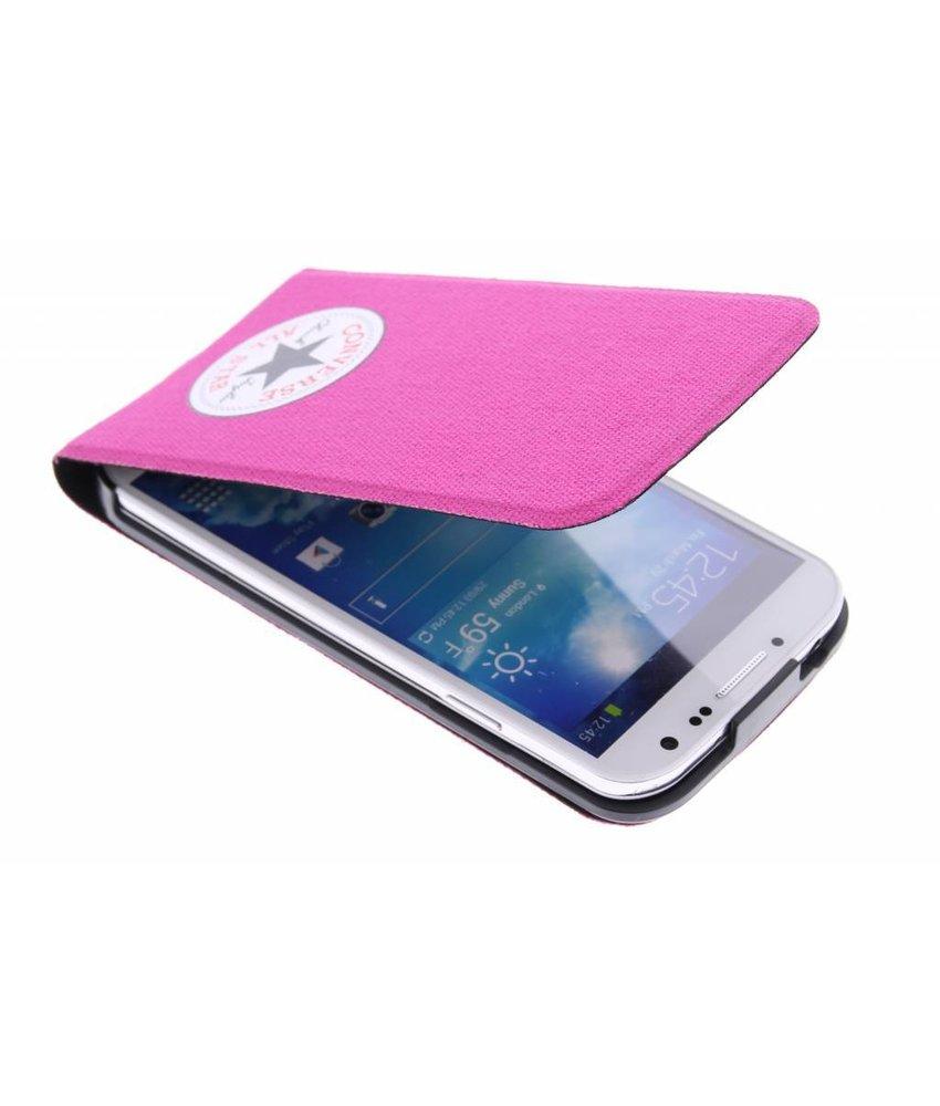 Converse Flip Case Samsung Galaxy S4 - fuchsia
