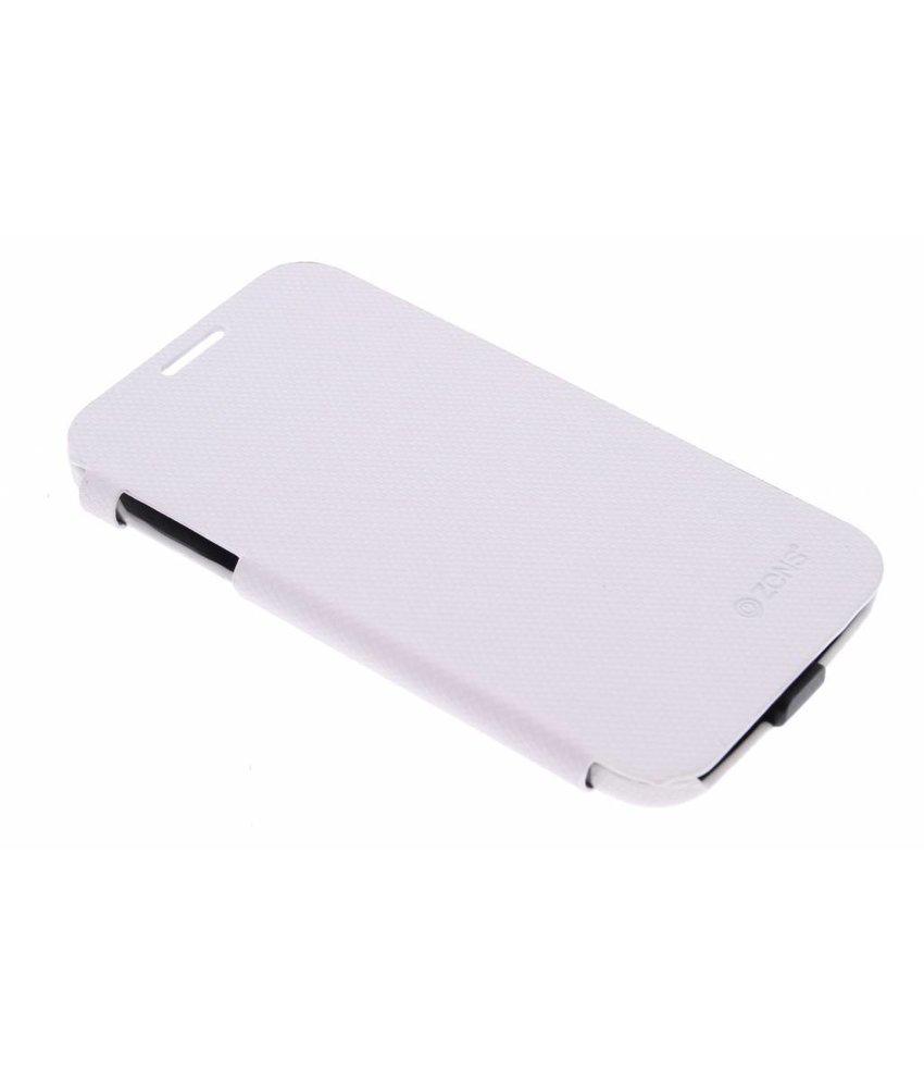 Zens Charging Flip Case Samsung Galaxy S4 - Wit