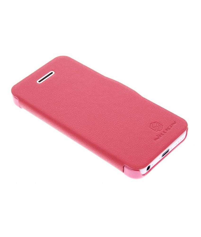 Nillkin Leather slim booktype hoes iPhone 5c - rood
