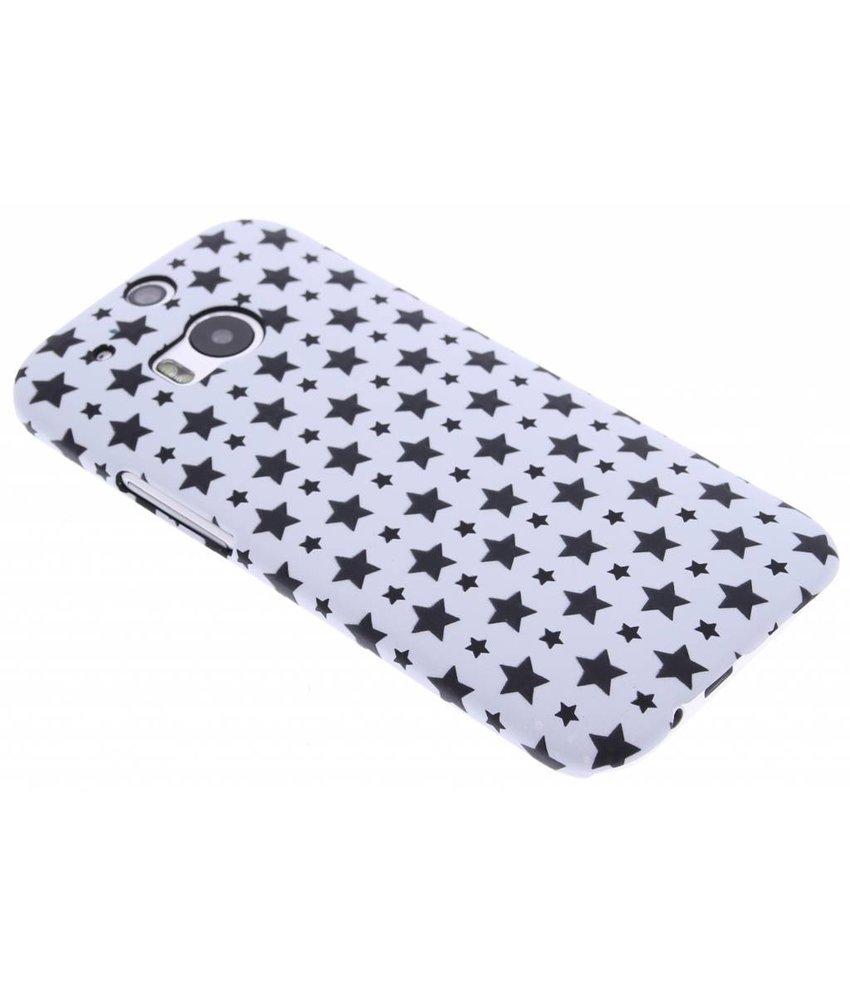 Wit sterren design hardcase hoesje HTC One M8 / M8s
