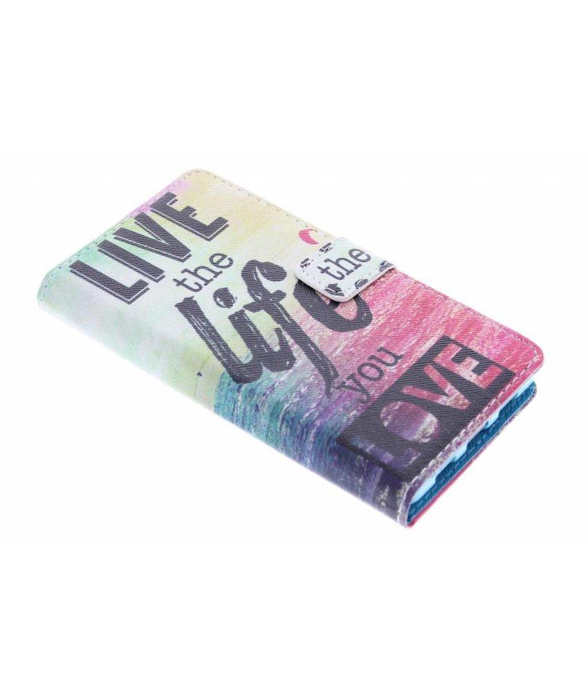 Design TPU booktype hoes Huawei P8 Lite