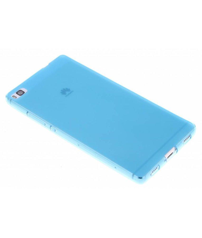 Turquoise hard siliconen hoesje Huawei P8