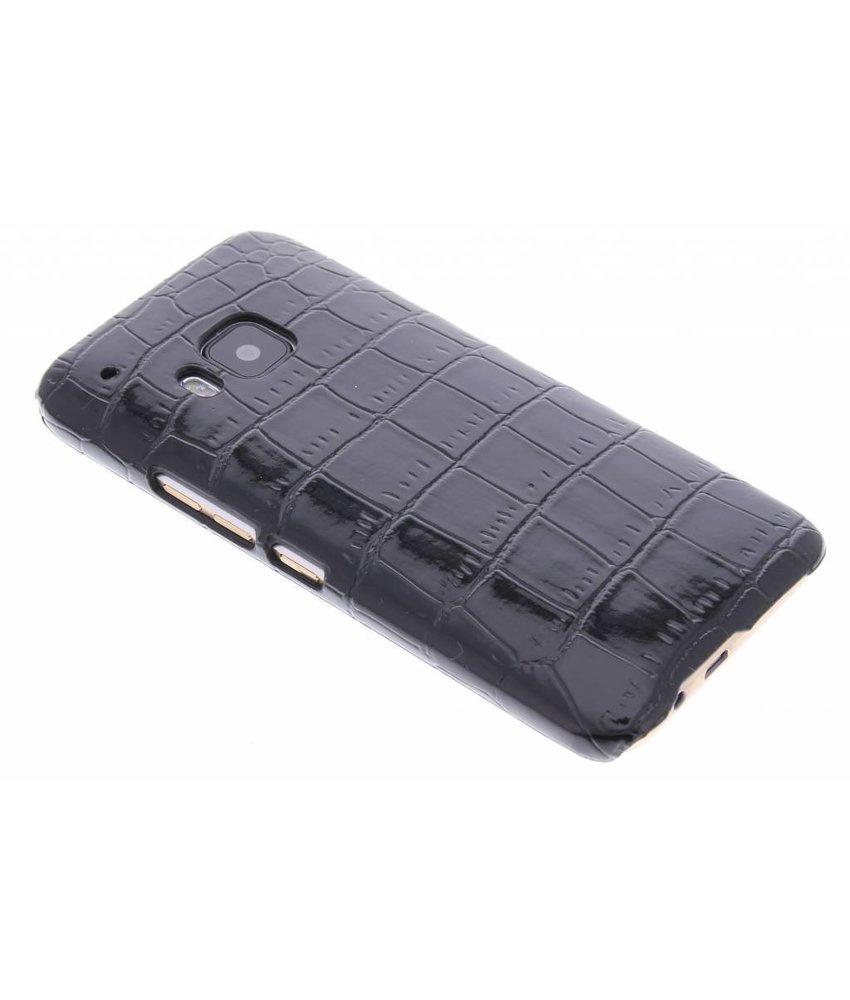 Zwart krokodil design hardcase hoesje HTC One M9