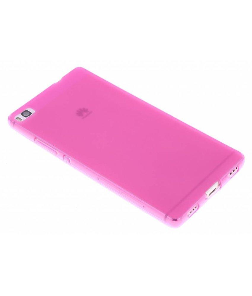 Fuchsia hard siliconen hoesje Huawei P8