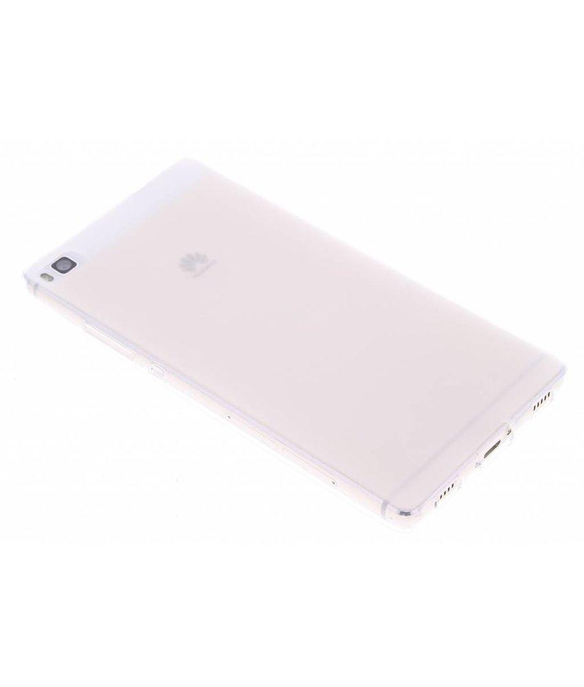 Wit hard siliconen hoesje Huawei P8