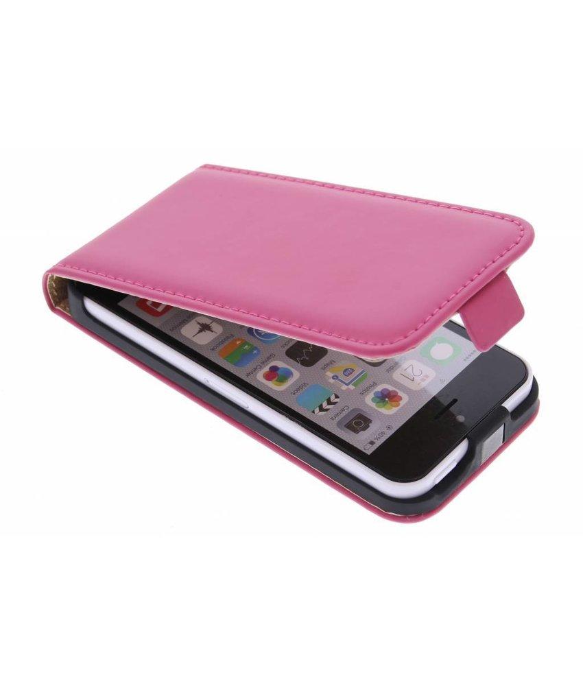 Selencia Luxe Flipcase iPhone 5c - Fuchsia