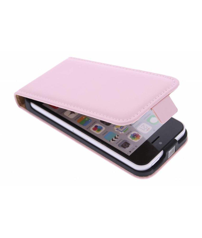Selencia Luxe Flipcase iPhone 5c - Poederroze