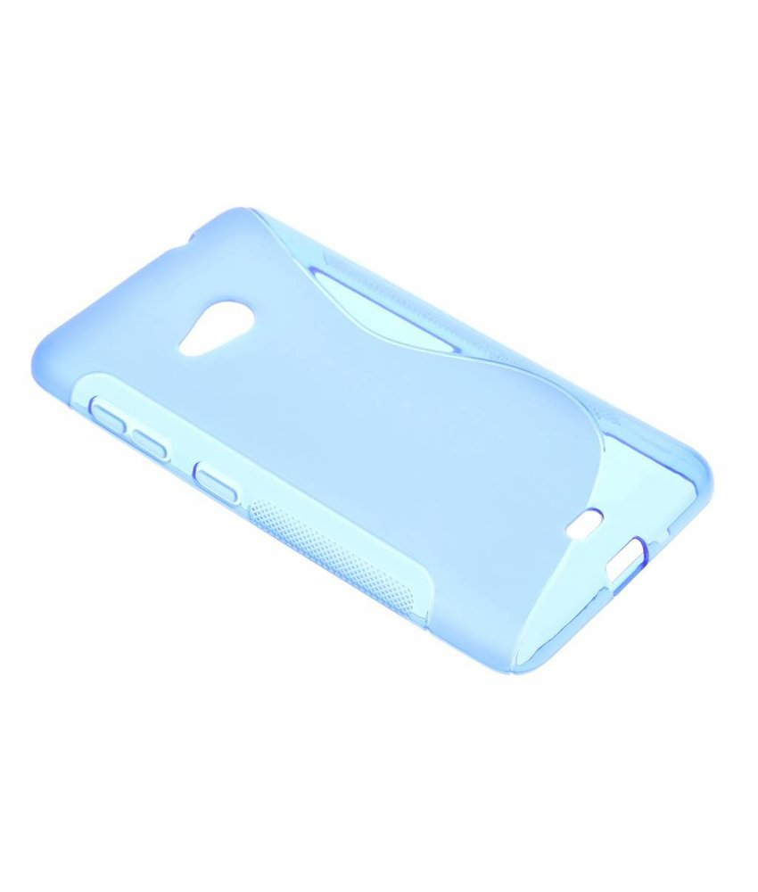 Blauw S-line TPU hoesje Microsoft Lumia 535