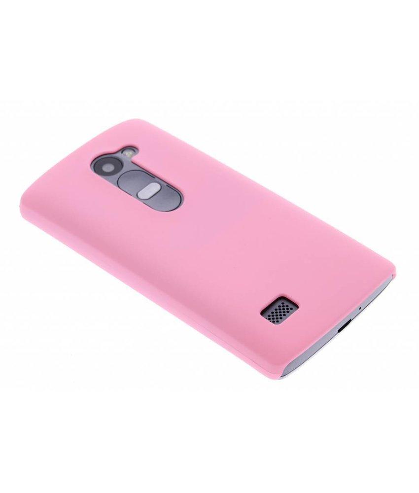 Roze effen hardcase hoesje LG Leon