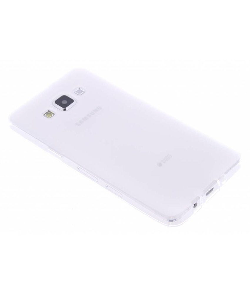 Wit hard siliconen hoesje Samsung Galaxy A5