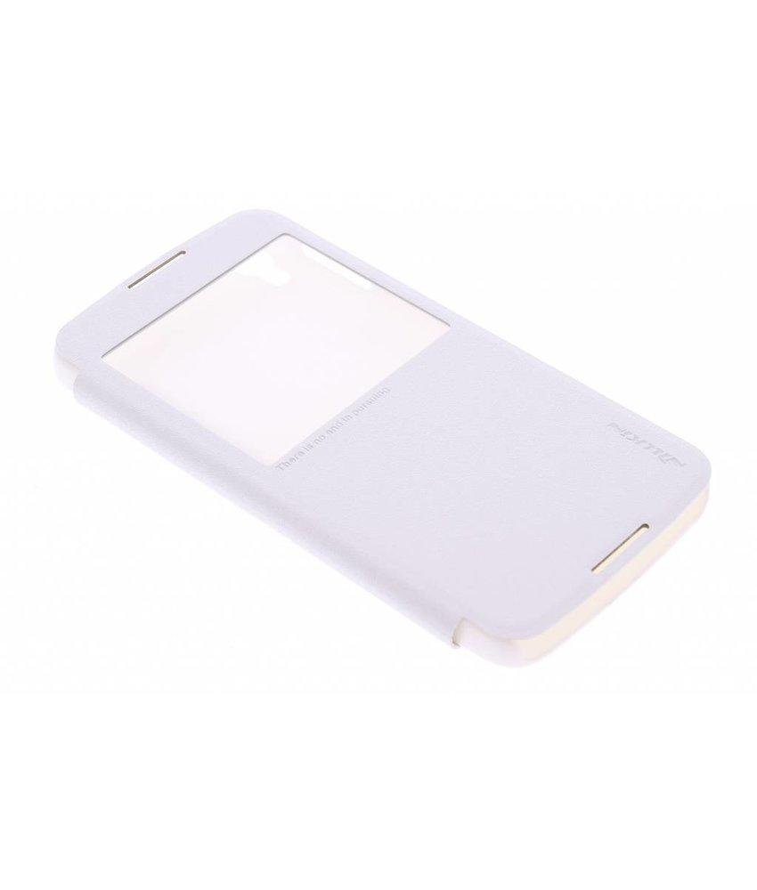 Nillkin Sparkle slim booktype Alcatel One Touch Idol 3 5.5 - Wit