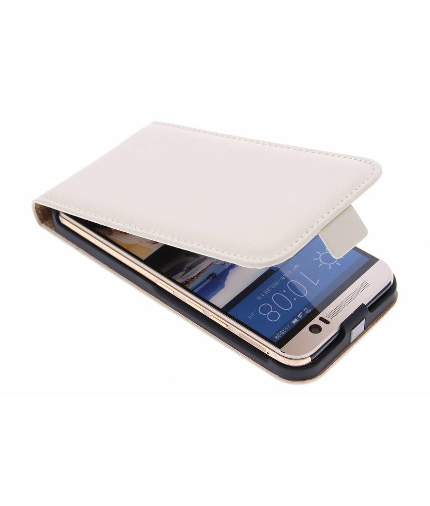 Selencia Luxe Flipcase HTC One M9 - Gebroken Wit