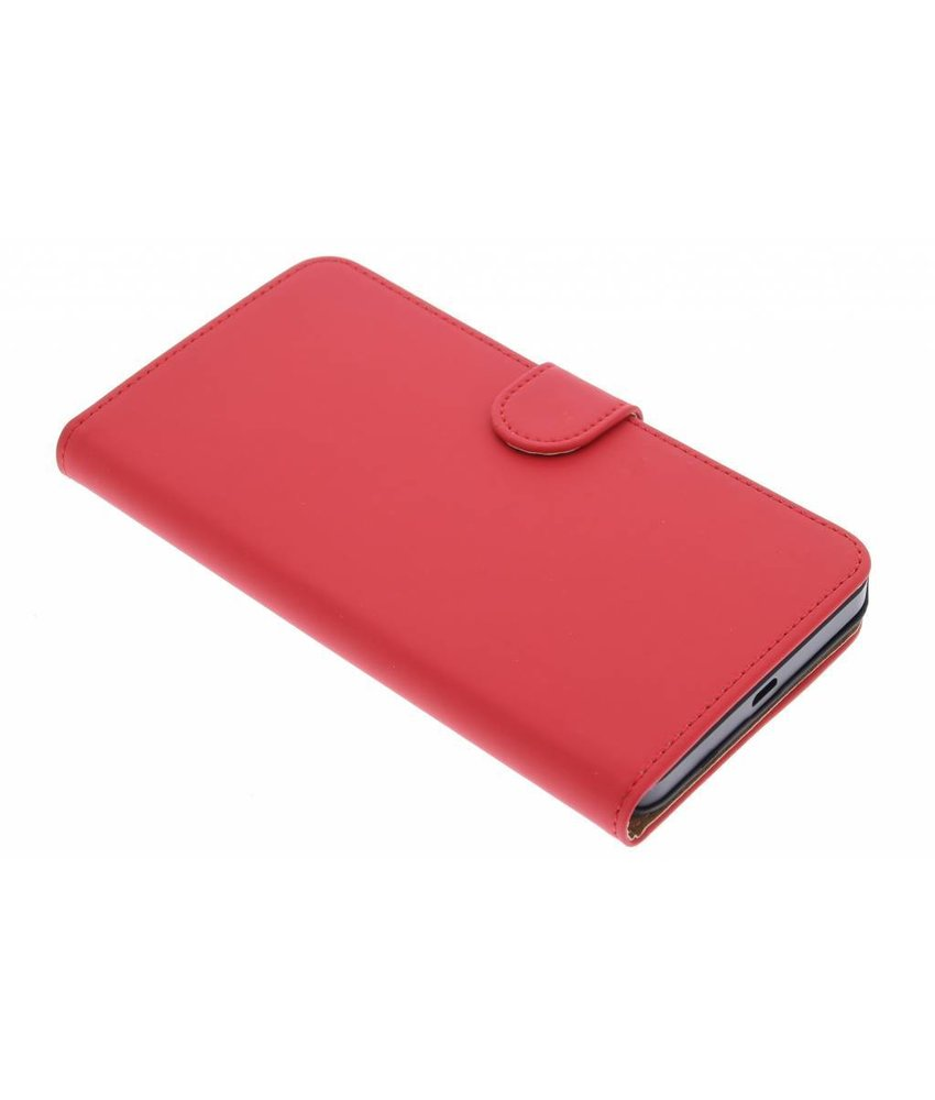 Rood effen booktype hoes Microsoft Lumia 640 XL