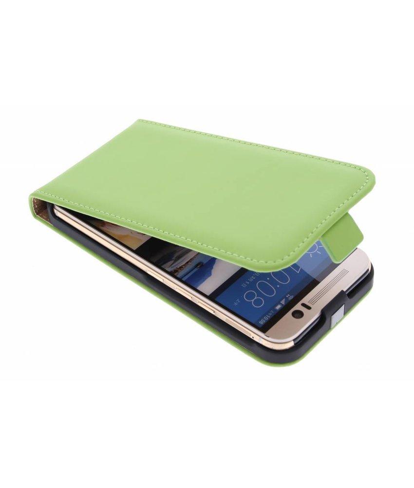 Selencia Luxe Flipcase HTC One M9 - Groen
