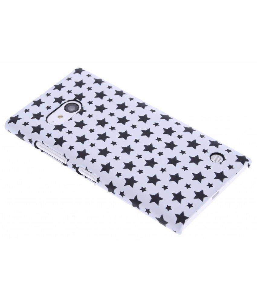 Wit sterren design hardcase hoesje Nokia Lumia 735 / 730