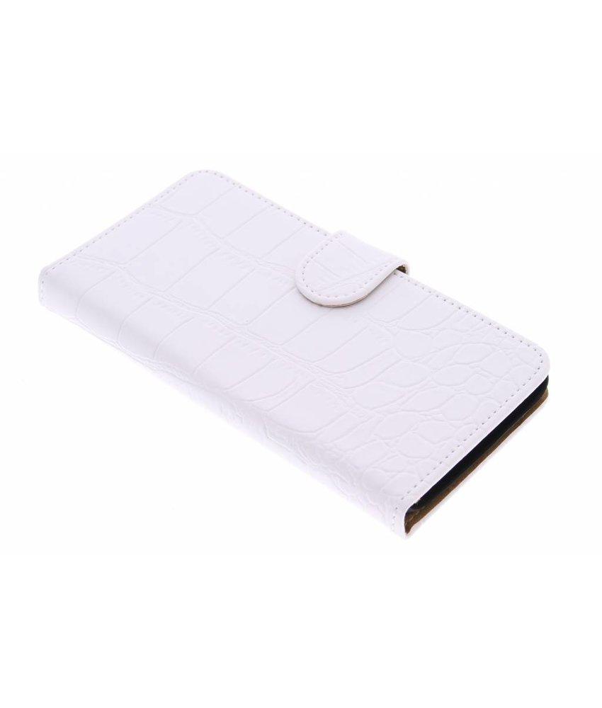 Wit krokodil booktype hoes Huawei Y625