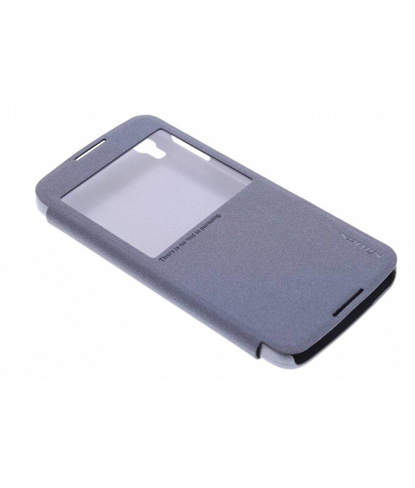 Nillkin Sparkle slim booktype Alcatel One Touch Idol 3 5.5 - Zwart