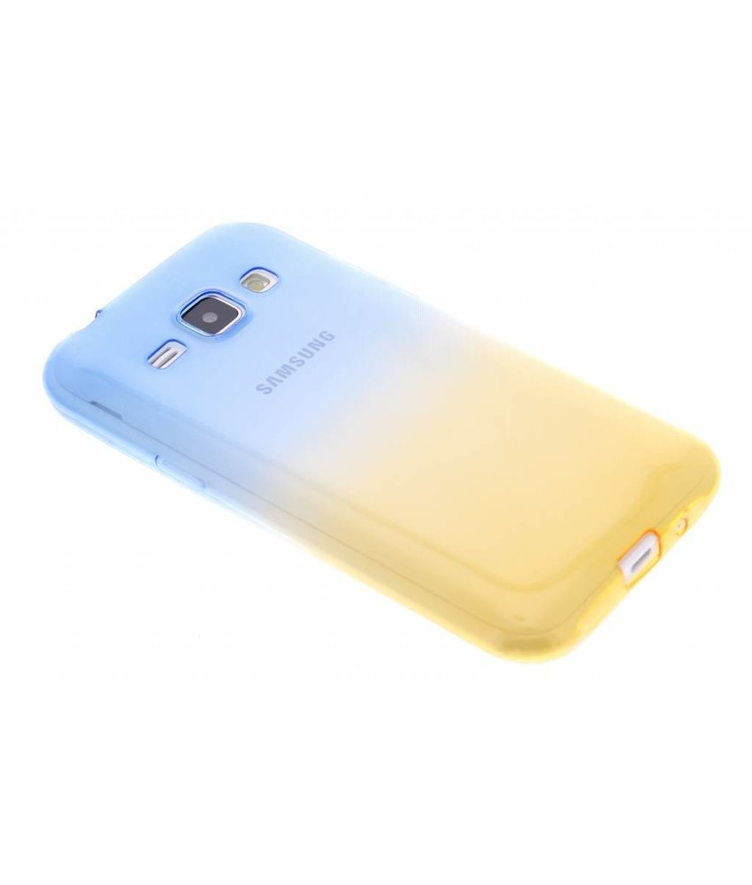 Tweekleurig TPU siliconen hoesje Samsung Galaxy J1