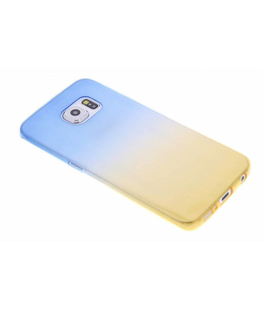 Tweekleurig TPU siliconen hoesje Samsung Galaxy S6 Edge