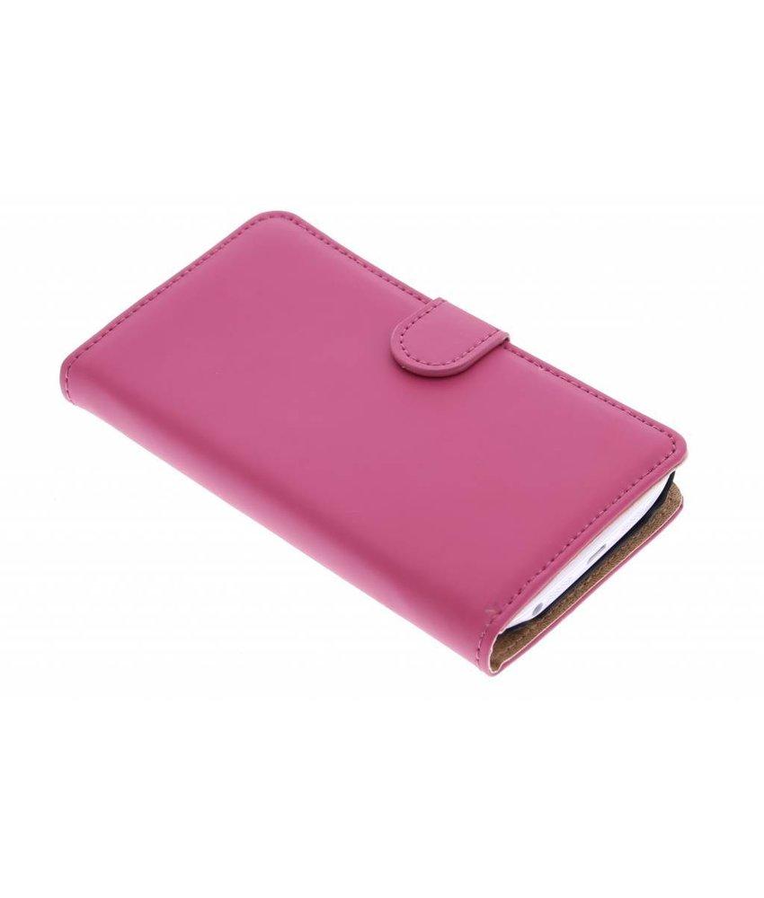 Selencia Luxe Book Case LG G2 - Fuchsia