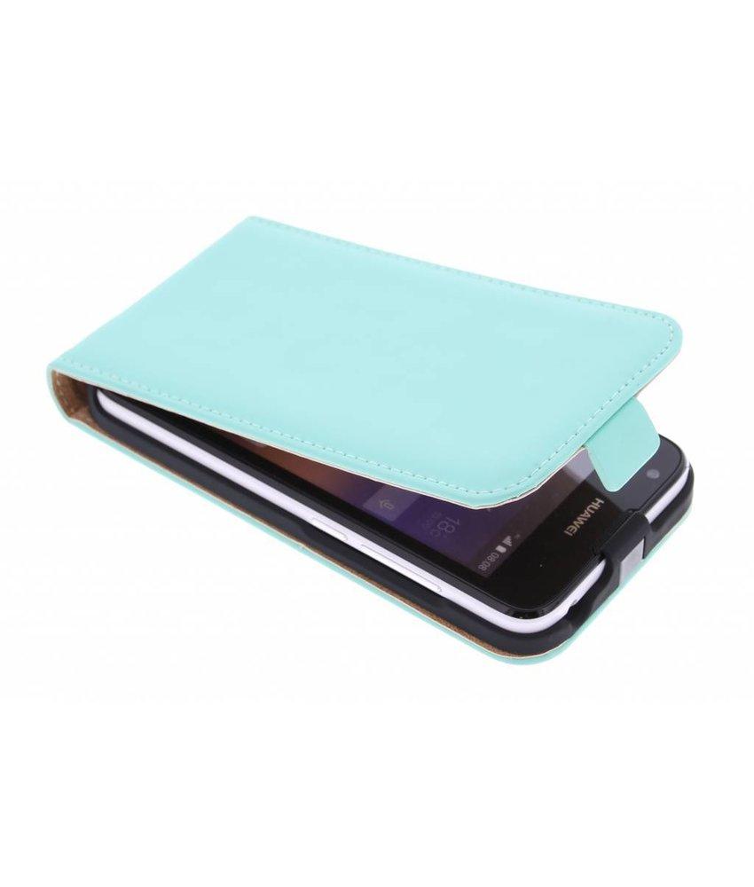 Selencia Luxe Flipcase Huawei Ascend Y550 - Mintgroen