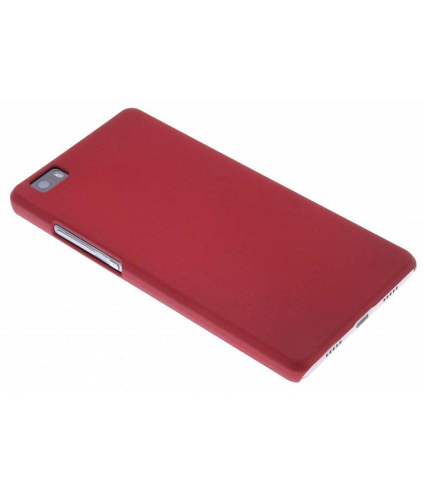 Rood effen hardcase hoesje Huawei P8 Lite