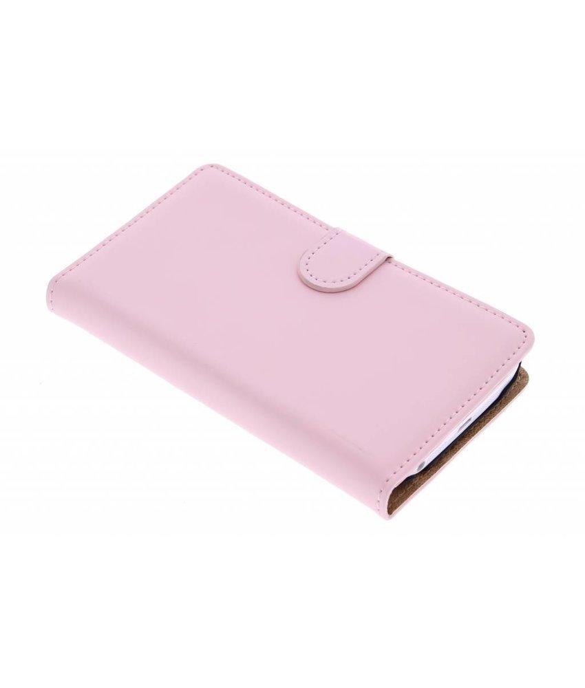 Selencia Luxe Book Case LG G2 - Poederroze