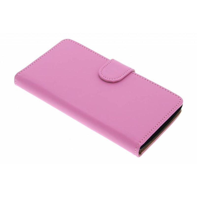 Roze effen booktype hoes LG Magna / G4c