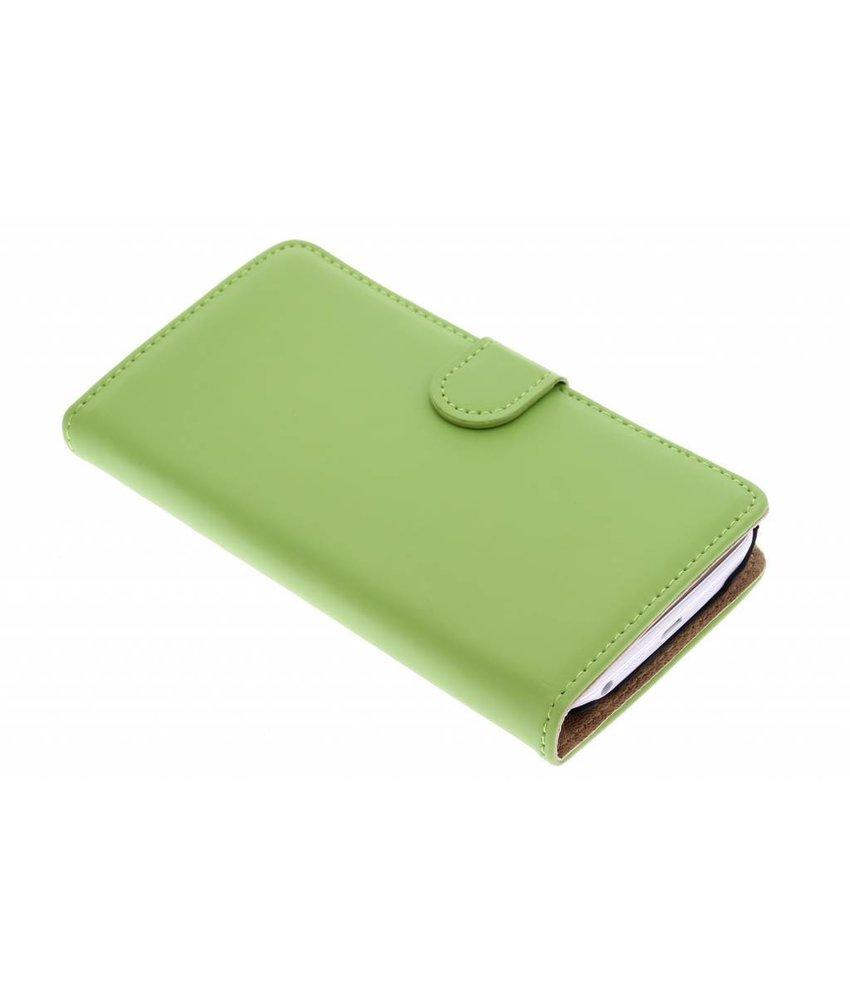 Selencia Luxe Book Case LG G2 - Groen